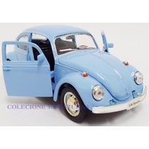 Miniatura Wolks Fusca Azul Claro 1962 Abre Capô Esc.1:32rmz