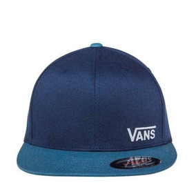 7cd07628ee686 Gorra Plana Cerrada Original Vans Hombre Azul Textil Is405 A