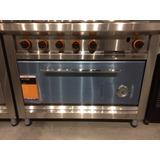 Cocina Morelli Basic Chef 1100 4 Hornallas+plancha Pta/acero