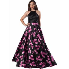 Vestido Fiesta Largo De Noche Sq7216 - Flower Pink