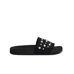 Trender Sandalia Color Negro Con Perlas. 9310622