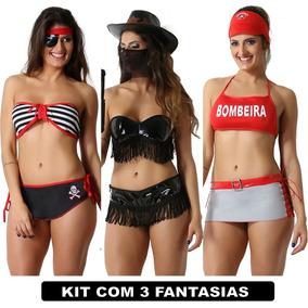 Moda Íntima Lingerie Atacado Feminino Kit Com 3 Uni Sexys