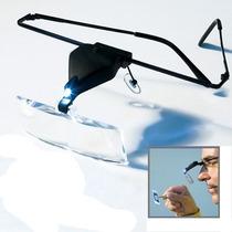 Gafas Lentes Lupa Con 3 Medidas Intercambiables Con Luz Led