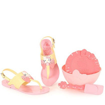 Sandália Infantil Grendene Hello Kitty - 23 Ao 34 - Amarelo