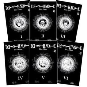 Mangá Coleção Death Note Black Edition Volumes 1 À 6 Lacrado