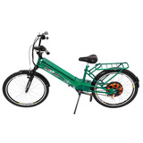 Bicicleta Elétrica Scooter Brasil Verde Com Bateria 9 Amp