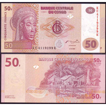 Congo Billete De 50 Francos Año 2007 Sin Circular