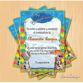 Invitacion Digital Imprimible Frozen Olaf Cumpleaños