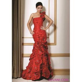 Vestido Fiesta Rojo 6 Jovani 71462