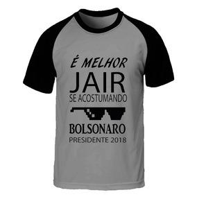 b3d11462b Camisa Bolsonaro Oculos - Camisetas no Mercado Livre Brasil