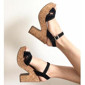 Sandálias Plantaforma Alto Luxo Confort Lev Salto 11cm