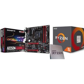 Kit Gamer Ab350m Gaming 3 Am4 + Ryzen 5 1600 Ddr4