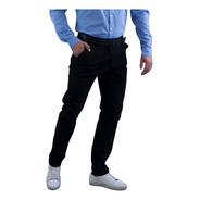 Pantalones Casuales Para Hombre De Gabardina Stretch