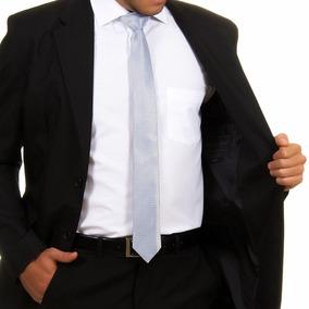 Terno Slim Oxford Completo + Camisa Social + Gravata + Capa