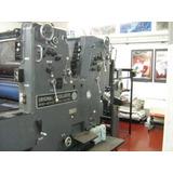 Maquina Litografica Offset Heidelberg Sormz Bicolor 72x54cms