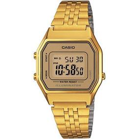 Reloj Dama Retro Vintage La680-wga-9df Dorado Casio