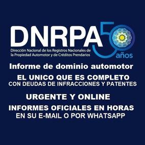 Informe De Dominio Oficial Completo Urgente Online A Su Mail