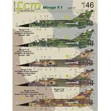 Decal Mirage F.1 Fcm 1/48 Decalque Iraque, Libia, Iran, Etc