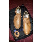 Zapatos De Cuero Marrón Bs