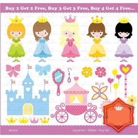 Kit Imprimible Castillo De Princesas 3 Imagenes Clipart