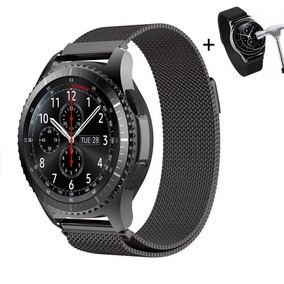 48295b40499 Pulseira Samsung Gear S3 Metal Milanesa Frontier + Película