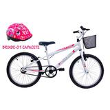 Bicicleta Aro 20 Feminina Kitty Said-x C/ Cestinha + Brinde