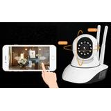 Camara Seguridad Rotativa Wifi Vision Nocturna Somos Tienda