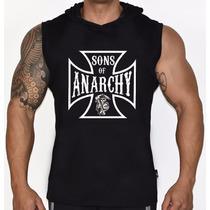 Camiseta Regata Machão Com Capuz Sons Of Anarchy Samcro