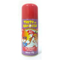 Tinta Da Alegria Spray Colorir Cabelos Festas Vermelho