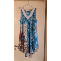 Vestidos Fibrana Estampados Hindú T2xl $ 490