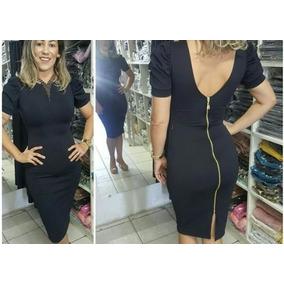 a3eba8f64 Vestido Preto Com Ziper Lindo - Vestidos no Mercado Livre Brasil
