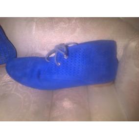 Zapatos Botines Azules Casuales