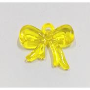 Pingente Acrílico Laço Amarelo