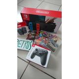 Paquete Nintendo Switch Neon + Controles + Juegos + Memoria