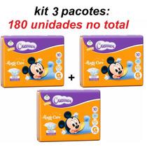 Fralda Cremer G ( 180 Unidades ) Disney Baby - Kit 3 Pacotes