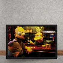 Quadro Decorativo Homer Moe Simpsons 3d 70x50