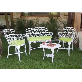 Conjunto Namoradeira + 2 Cadeiras E Mesa Jardim Piscina Sala