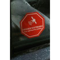 Adesivo Rastreado Por Via Satélite Gps Radar Vinil Aviso Uno