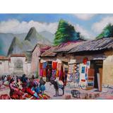 Mercado De Cusco - Pintura Al Óleo (jsedamanos)