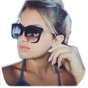 Óculos De Sol Feminino Clássico Rasoir Aberto Fosco Grande