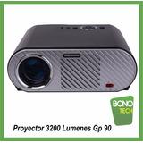 Proyector Multimedia Gp90 3200 Lumenes Potente 120 Plg