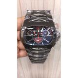 Relógio Tonino Lamborguini Gt1 Prata Mostrador Azul E Branco