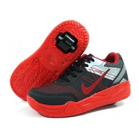 Tênis Infantil De Rodinhas Nike Preto Vermelho - Lançamento