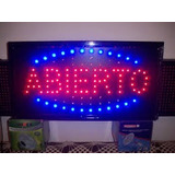 Cartel Led Abierto 37 X 25 Cms Horizontal 220v