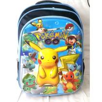 Mochila Pokémon Pikachu Escolar Grande 3 Divisórias Grande