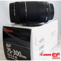 Lente Canon Ef 75-300mm F/4-5.6 Iii Usm, P/ Cámara Canon Eos