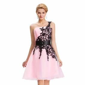 Vestido De Debutante Rosa 34 36 38 40 42 44 46 48 - Vg00256