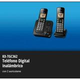 Teléfono Panasonic Duo Inalámbrico Kx-tgc362 Contestador