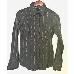 Camisa Zara Dama Usada M Oferta Strech Negro