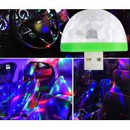 Fiesta Car Bola Rgb Magic Usb Media Esfera Audioritmica Dj